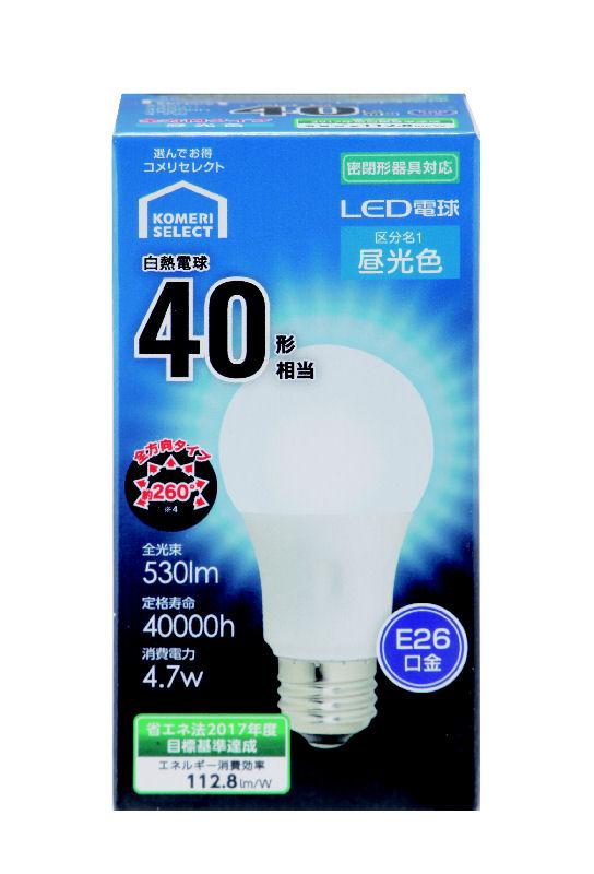 【アウトレット品】オーム電機 LED電球 A E26 5W 昼光色