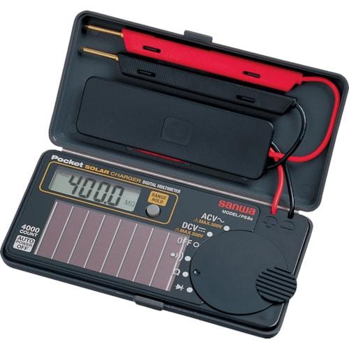 SANWA ソーラー充電ポケット型デジタルマルチメータ_