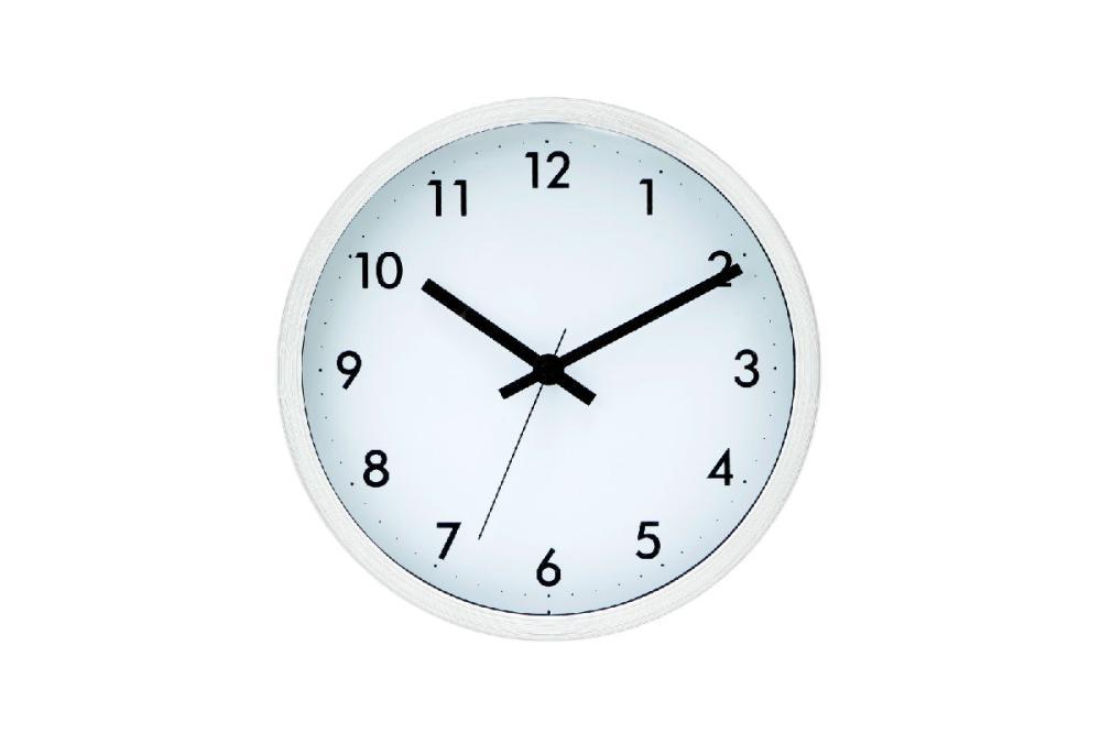 コメリセレクト 掛け時計 ホワイト #7945‐Q ホワイト