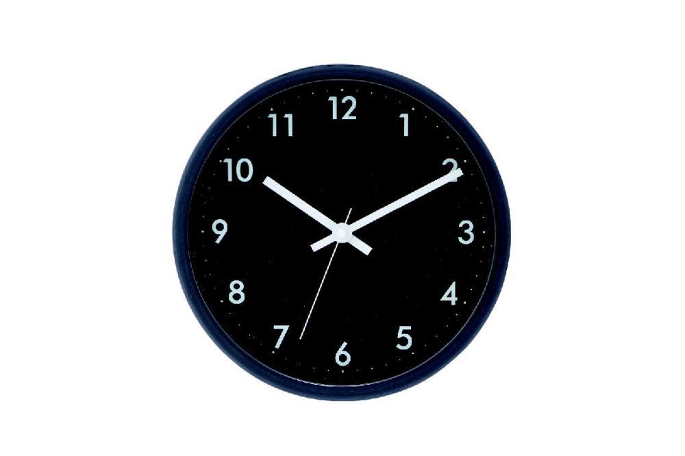 コメリセレクト 掛け時計 ブラック #7945‐Q ブラック
