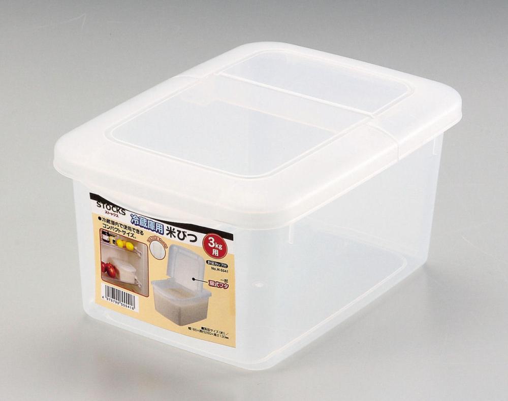 ストックス 冷蔵庫用米びつ 3kg用 計量カップ付