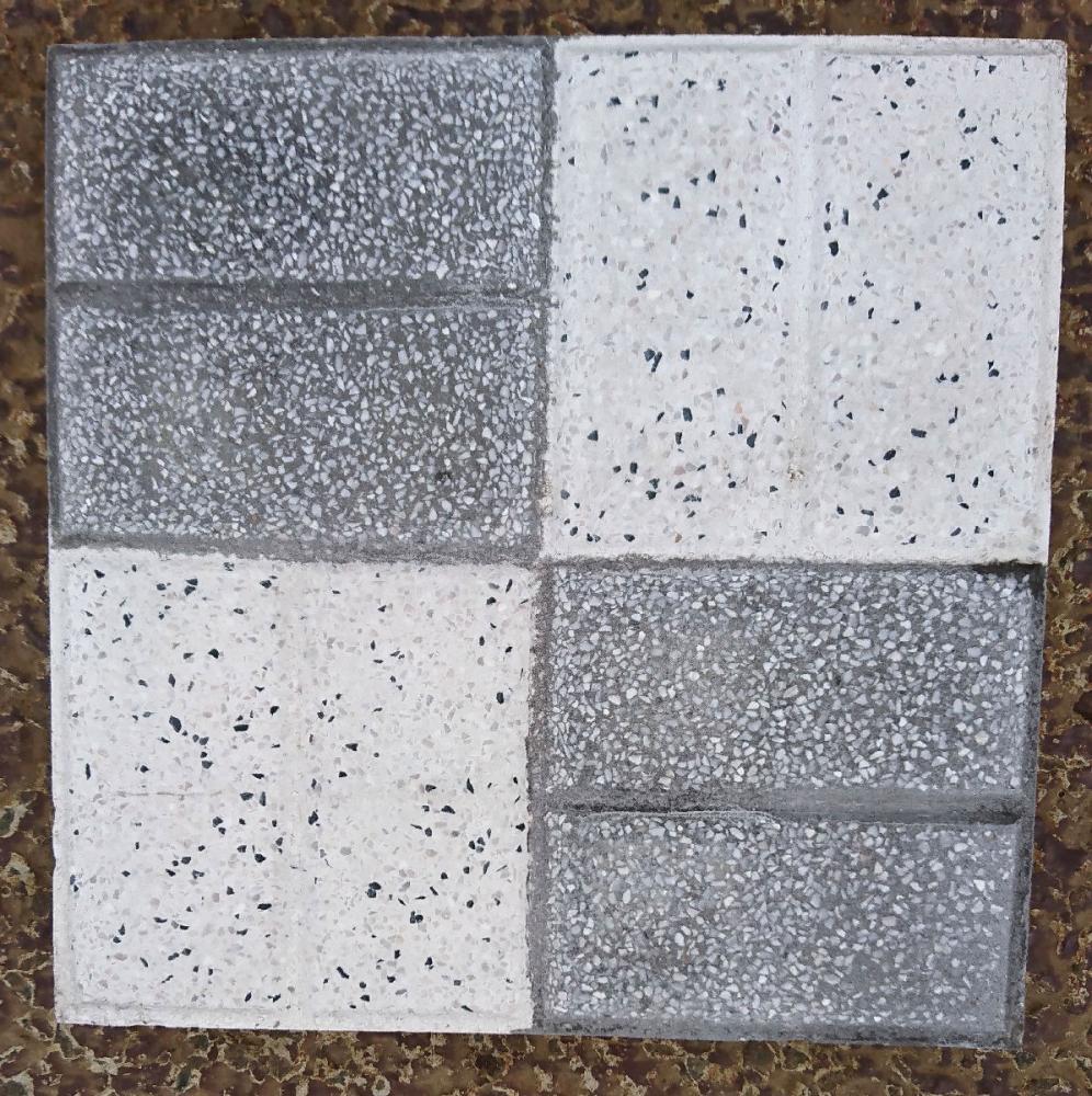 チェッカー平板 25×25×3cm グレー