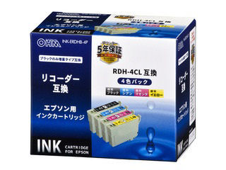 エプソン 互換インク リコーダー 4色パック RDH―4CL対応