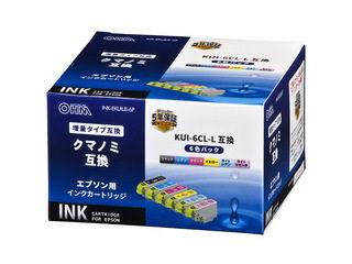 エプソン 互換インク クマノミL 6色パック KUI―6CL―L対応