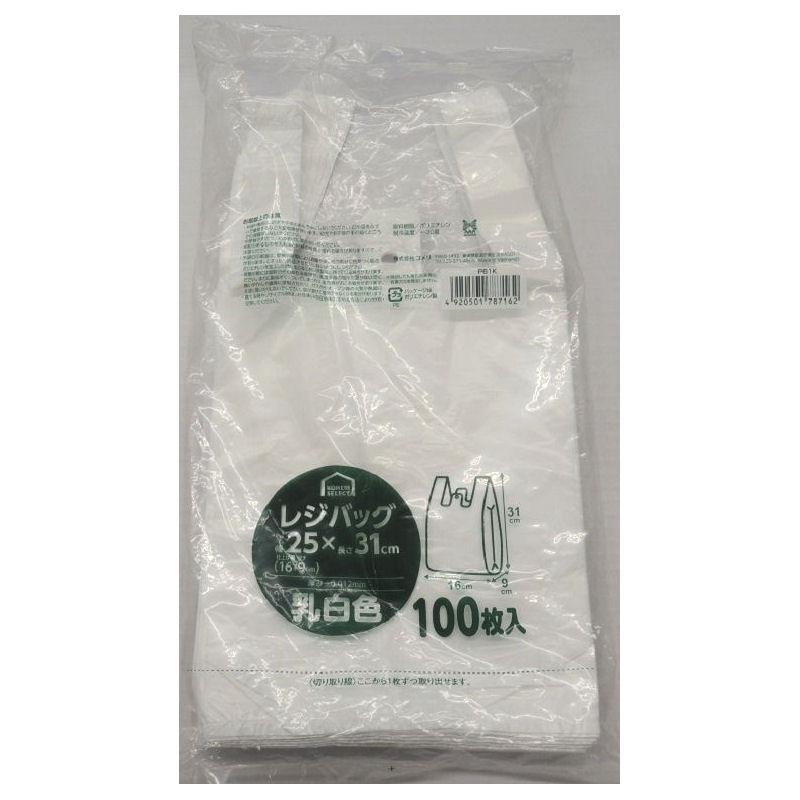 コメリセレクト レジバッグ 乳白色 100枚 各種
