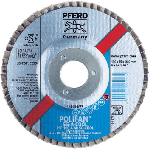 PFERD ポリファンフラップディスクSGA 100 各種