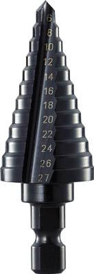 TRUSCO ステップドリル 2枚刃黒染め表面処理 6~27mm 段数12_