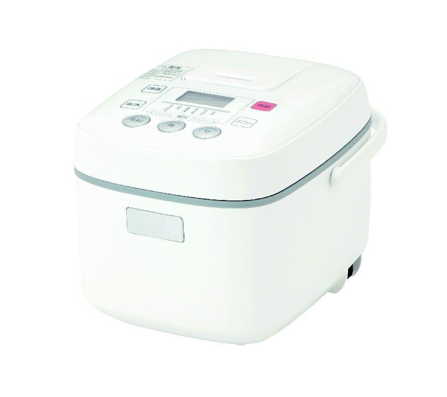 山善 マイコン炊飯器 3合用 ホワイト KYZ-05M