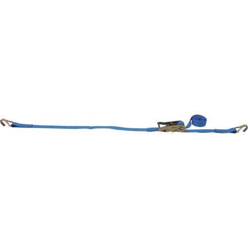 TESAC ラッシングベルトベルト荷締機ラチェットバックル式両端ナローフック付_