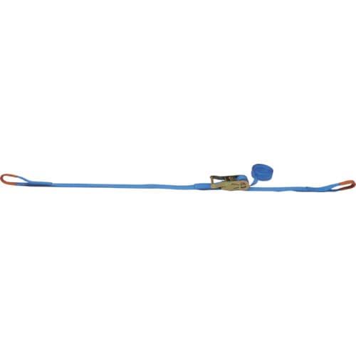 TESAC ラッシングベルト(ベルト荷締機)ラチェットバックル式アイタイプ_