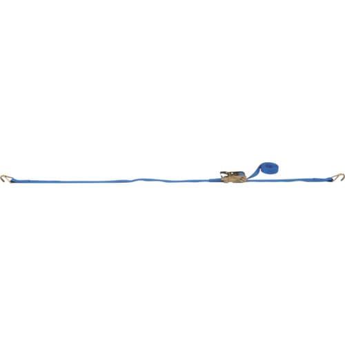 TESAC ラッシングベルト ベルト荷締機ラチェットバックル式両端ナローフック付_