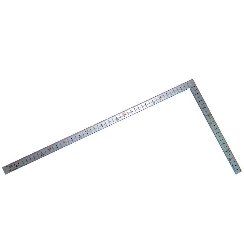 シンワ 曲尺厚手広巾 シルバー50cm建築・鉄工用 表裏目盛 8段cm数_