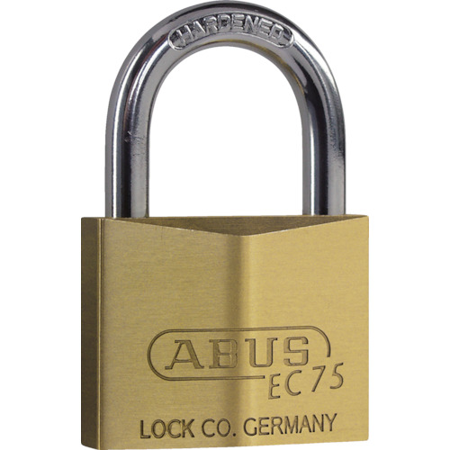 ABUS 真鍮南京錠 EC75-50 ディンプルシリンダー 同番_