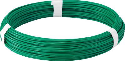 TRUSCO カラー針金 ビニール被覆タイプ グリーン 各種