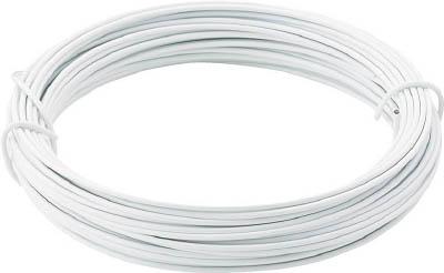 TRUSCO カラー針金 小巻タイプ・20番手 白 線径0.9mm_