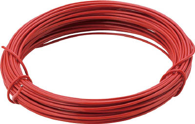 TRUSCO カラー針金 小巻タイプ・18番手 赤 線径1.2mm_