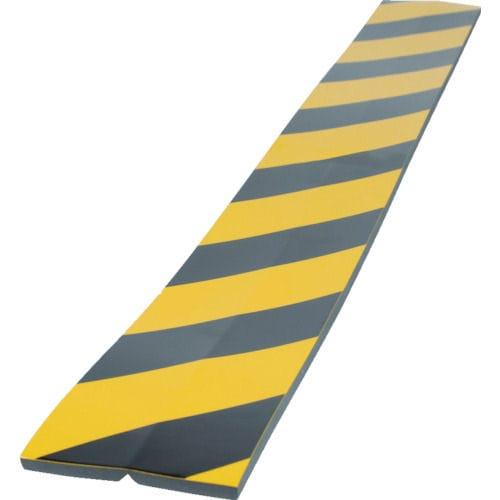 TRUSCO セーフティクッション コーナー用 幅100 長さ910 黄黒_