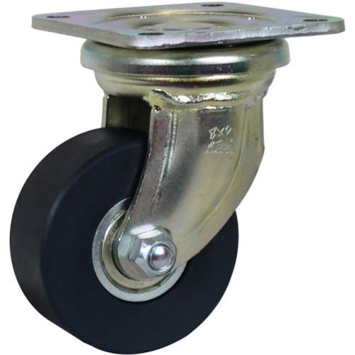 シシク 低床超重荷重用キャスター 100径 ユニクロメッキ McmO車輪_