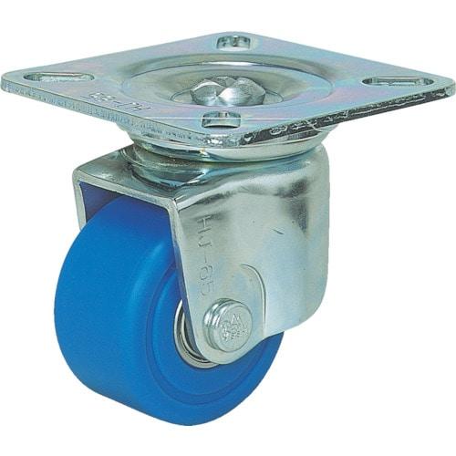 シシク 低床重荷重用キャスター 自在 65径 MC車輪 三価クロメート_