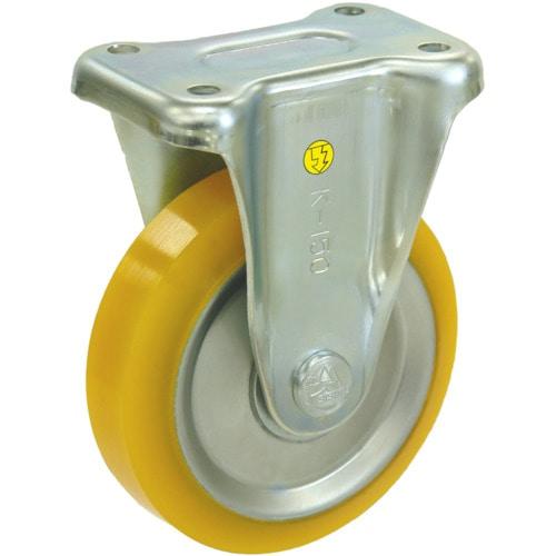 シシク 静電気帯電防止キャスター ウレタン車輪 固定 150径_