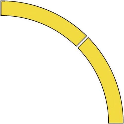 ユニット ドア開閉表示ステッカー アール型 黄・PVCステッカー・50幅_
