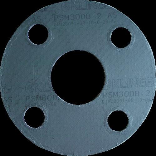 クリンガー 膨張黒鉛ガスケット(ステンレス爪付鋼板入り) 5枚入り_