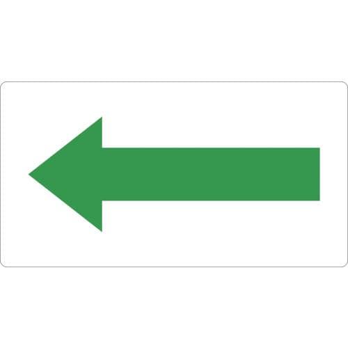 TRUSCO 配管用ステッカー 方向表示 緑 小 5枚入_