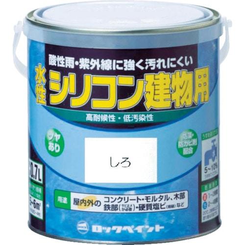 ロック 水性シリコン建物用 あか 0.7L_