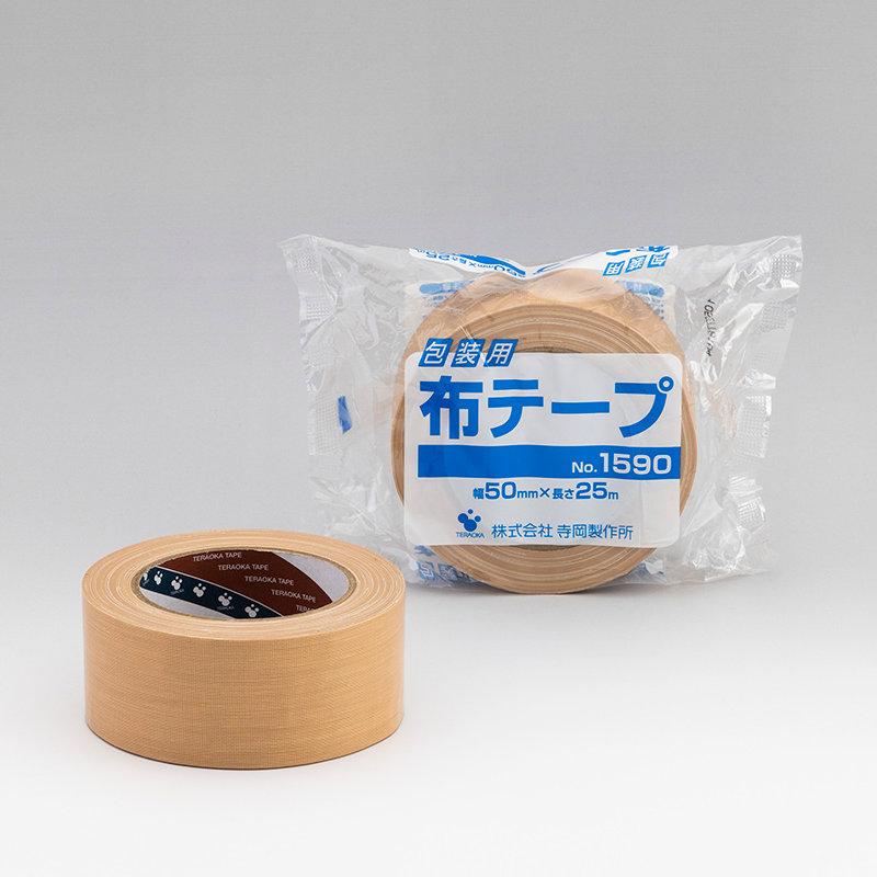 TERAOKA 包装用布テープ NO.1590 50mmX25M_