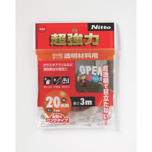 ニトムズ 超強力両面テープ透明材料用20×3_