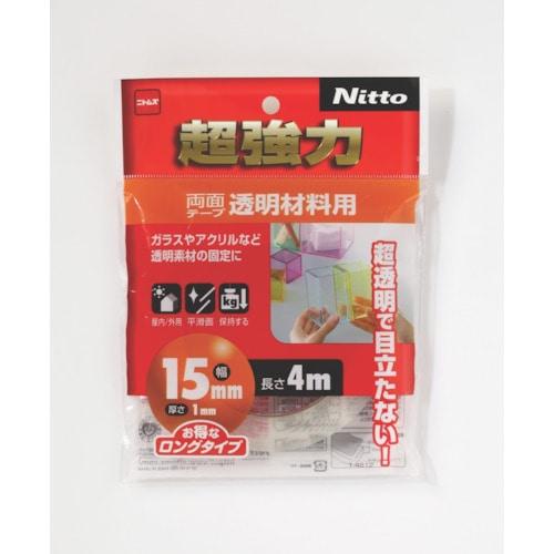 ニトムズ 超強力両面テープ透明材料用15×4_