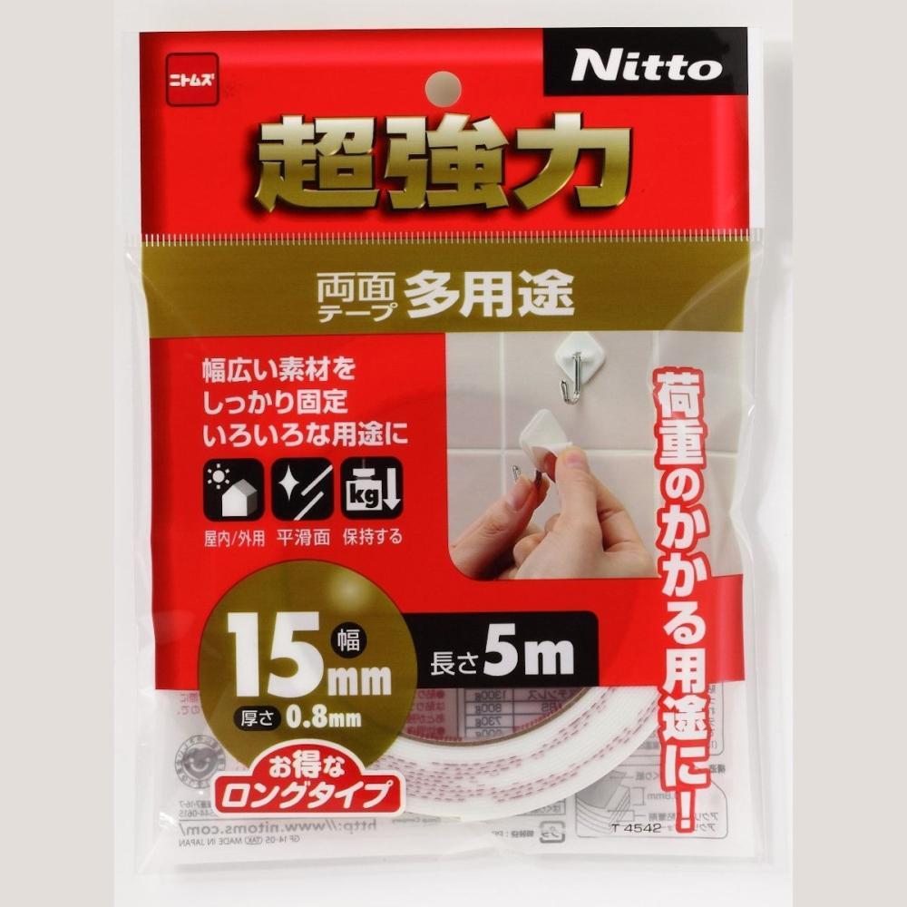 ニトムズ 超強力両面テープ多用途15×5_
