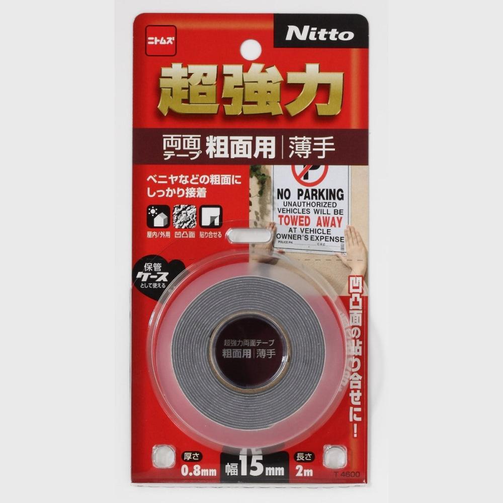 ニトムズ 超強力両面テープ粗面用薄手15×2_
