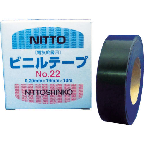 日東 屋外用ビニールテープNo.22 0.2mm×19mm×10m_