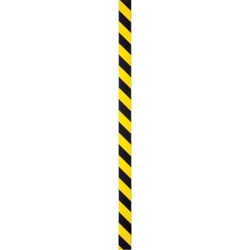 TRUSCO マグネット反射シート 黄・黒 100mmX1m_