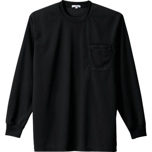 アイトス 吸汗速乾クールコンフォート 長袖Tシャツ男女兼用 ブラック 各サイズ