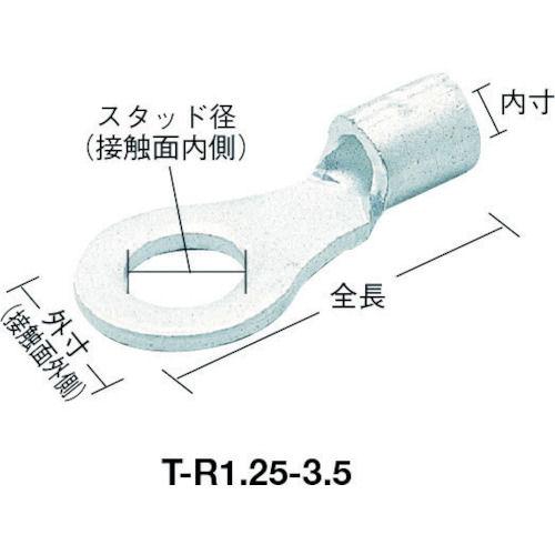 TRUSCO 裸圧着端子丸形5.3長さ15.6 (70個入)_