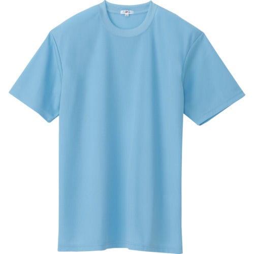 アイトス 吸汗速乾クールコンフォート 半袖Tシャツ男女兼用 サックス 各サイズ