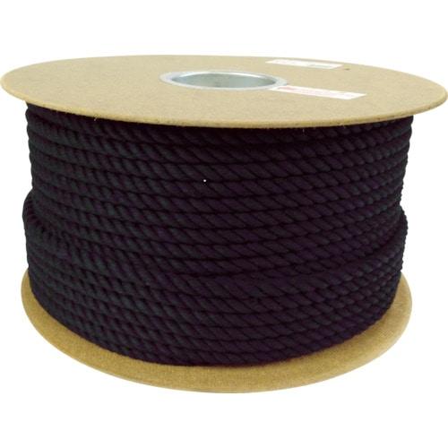 ユタカ ロープ 綿ロープドラム巻 9×100m ブラック_