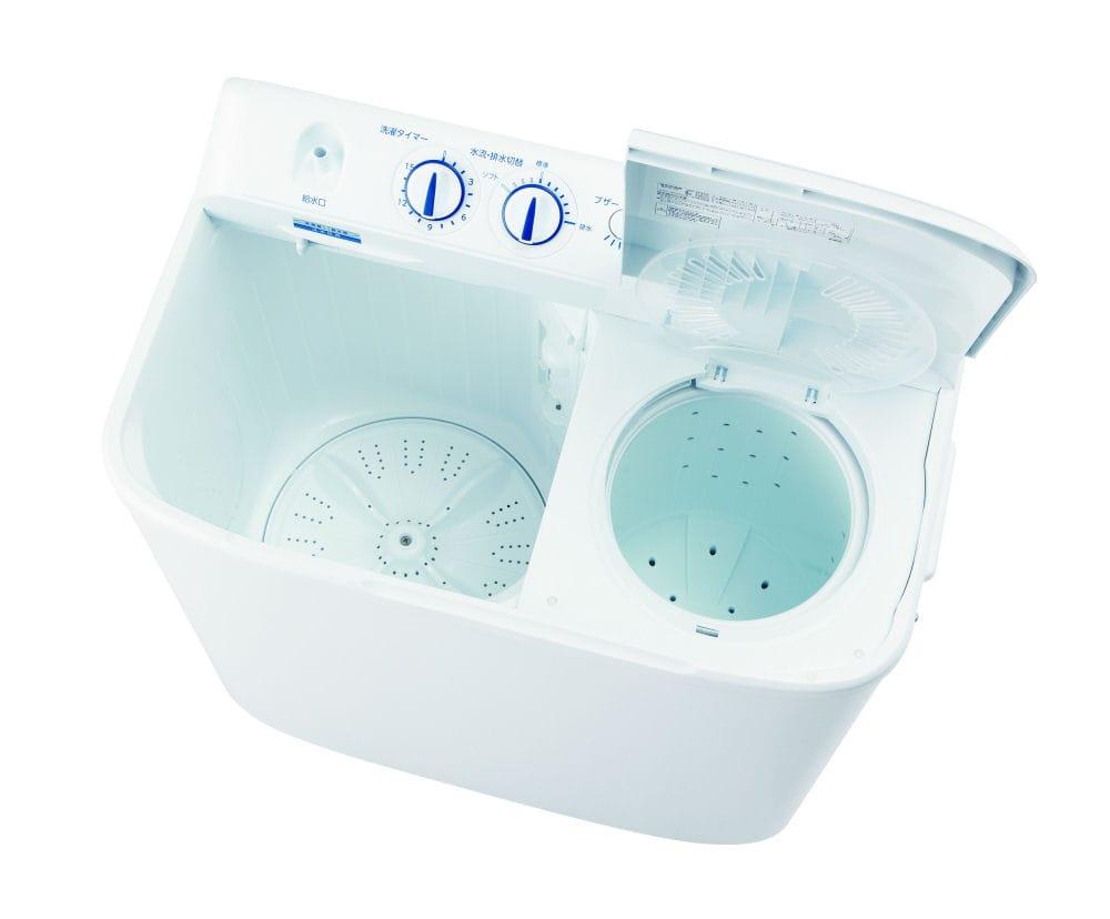ハイアール 二槽式洗濯機 4.5kg ホワイト JW-W45E(W)