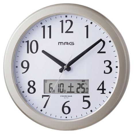 ノア精密 自動点灯電波掛時計 W-710CGM ナイトグロー