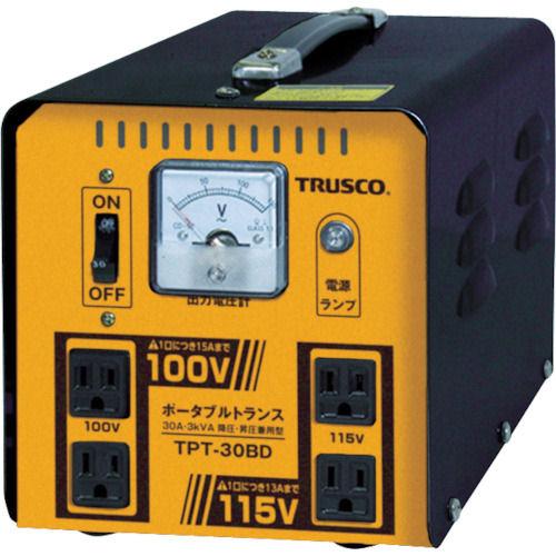 TRUSCO ポータブルトランス 30A 3kVA 降圧・昇圧兼用型_