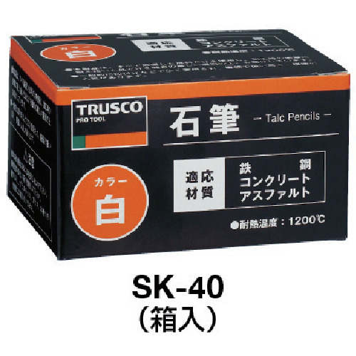 TRUSCO 石筆細丸  (100本入)_