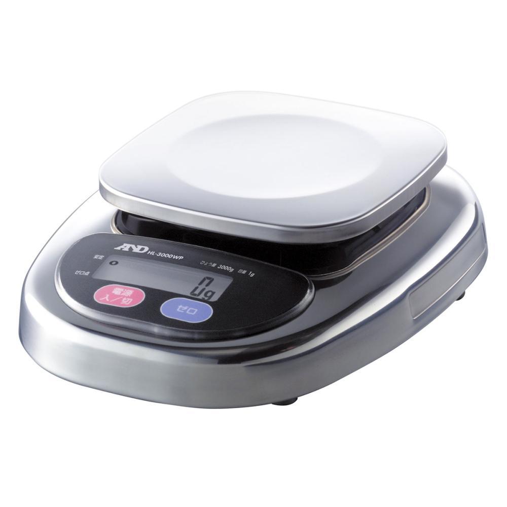 A&D 防塵・防水デジタルはかりウォーターボーイ皿寸法128×128mm_