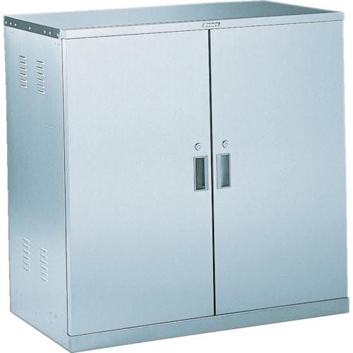 TRUSCO 耐震薬品庫 両開型 棚スライド式 900X500XH900_