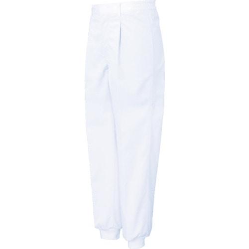サンエス 男性用混入だいきらい横ゴム・裾口ジャージパンツ ホワイト 各サイズ