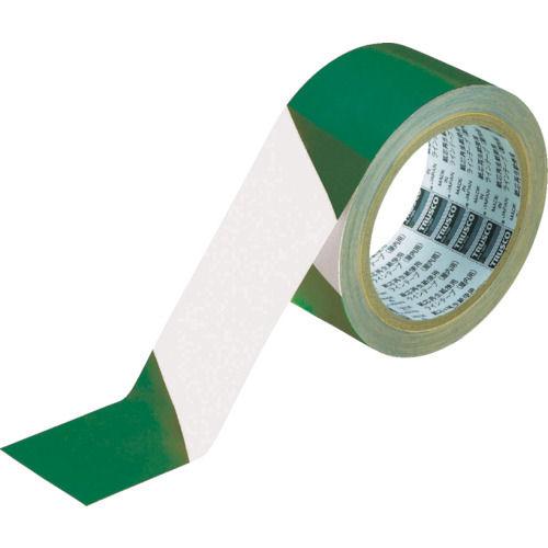 TRUSCO トララインテープ 緑白 50mm×25m_