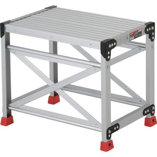 TRUSCO 作業用踏台 アルミ製・高強度タイプ 1段_