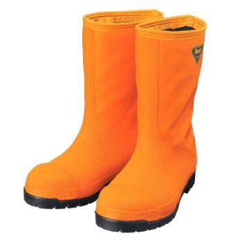 SHIBATA 冷蔵庫用長靴-40℃ NR031 オレンジ 各サイズ