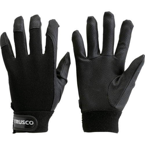 TRUSCO PU厚手手袋 ブラック 各種